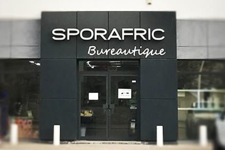 Notre magasin Sporafric Bureautique Avenue Charles de Gaulle à Pointe-Noire